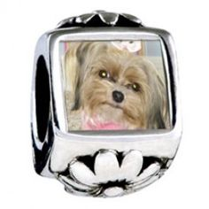 Shih Tzu Dog European Charms  Fit pandora,trollbeads,chamilia,biagi and any customized bracelet/necklaces. #Jewelry #Fashion #Silver# handcraft #DIY #Accessory