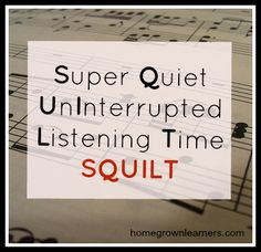 Listening to Music - Homegrown Learners - SQUILT