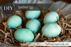 Make Your Own Decorative Speckled Eggs