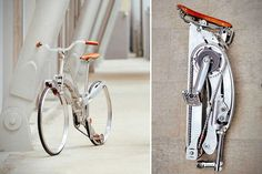 Sada Collapsible Bike - http://www.sadabike.it/en and http://hiconsumption.com/2014/05/sada-collapsible-bike/
