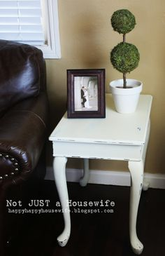 Shabby Chic Cream Side Table
