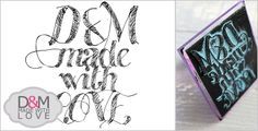 Custom rubber stamp by D&M made with love