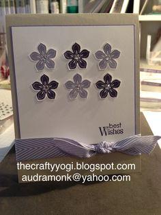 thecraftyyogi.blogspot.com Stampin' Up! Petite petals