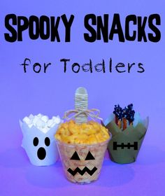 Spooky Snacks for Toddlers holiday, house crafts, houses, schools, spooki snack, halloween snacks, toddlers, parti, treat