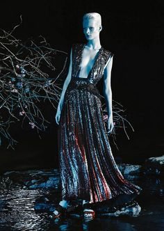 Irene Hiemstra wears Givenchy in 'Altered States' by Daniel Jackson for WSJ, Spring 2014.