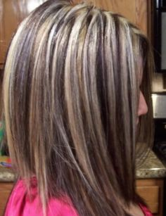 love more hair ideas hair colors dark brown chunky highlights makeup ...