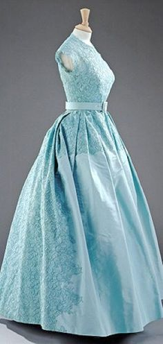 Queen Elizabeth's gown on the occasion of her sister, Princess Margaret's, wedding day