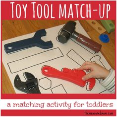 Toy Tool Match-up: A Matching Activity for Toddlers -- the measured mom