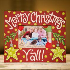 Glory Haus Merry Christmas Y'all w/ Stars Frame