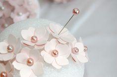 pearl, idea, balls, flower ball, silk flowers, flower pins, paper flowers, papers, diy