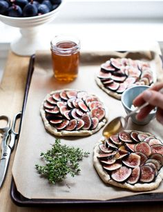 Fig Tartlets with Herbs and Honey