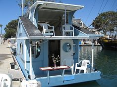Ah,,a sunny deck!....Cape Codder Tiny Floating Home