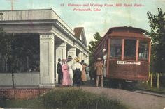 Construction of the streetcar lines in Portsmouth began in 1877 starting at Front St. and ending at Greenlawn Cemetery.  Millbrook Park became popular in the 1890s when the electric streetcars replaced the horse-drawn cars. The first extension of the new electrical system made its way five miles into New Boston. As new tracks had been laid, the first trip to New Boston was shortly thereafter (1893). The 4 original streetcars had a seating capacity of 24 each.