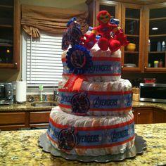 aveng diaper diaper cakes cake aveng shower idea avengers baby shower