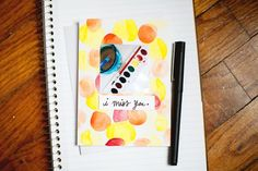 watercolor greeting cards + stickers made from instagram pictures #diy