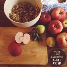 Recipe: Maple Sage Cardamom Apple Crisp by Honey Kennedy