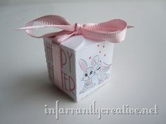 Little Easter box big enough to hold one Hershey Kiss.  Free print and cut file for your Silhouette.