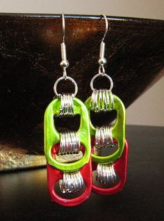 Items similar to Pop Tab Earrings - Christmas on Etsy