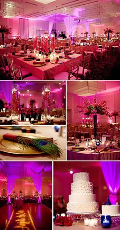 Gorgeous uplighting!  #uplighting #wedding