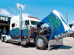 Image detail for -Custom Big Rig Truck Show Sandvik Peterbilt Photo 4