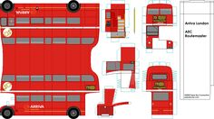 London Arriva Routemaster paper model bus - paperbuses.com. DIY paper craft