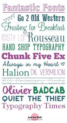 16 Fantastic FREE Fonts at SweetRoseStudio.com #fonts #free