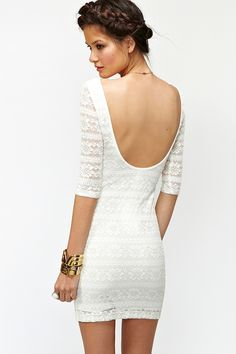 Metallic Lace Dress from Nasty Gal [only $48]