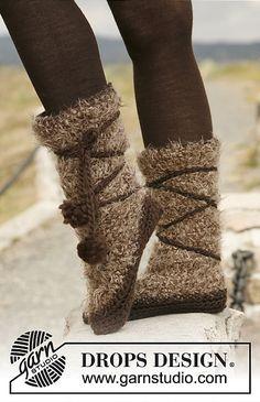 "Fabulous... ""Pocahontas"" slipper/boots: free crochet pattern"