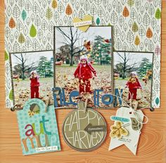 Bella Blvd - Pile it On! - Scrapbook.com - Made with Bella Blvd's latest fall collection Hello Autumn