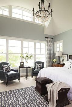 bedroom. Love wall color
