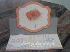 Carolyn's Card Creations: You make me Happy - Watercolor