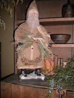 . father christma, simpler christma, winter santa, primit santa, christma prim, saint nick, primit accessori, primit christma