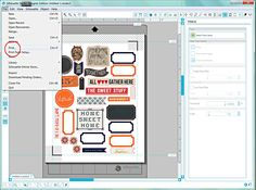 Heather Greenwood | Scrapbooker + Mixed Media Artist: Workflow Wednesday: Silhouette Tutorial Print and Cut for hybrid pocket scrapbooking