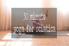 Pin it! 30 min yoga video for sciatica.