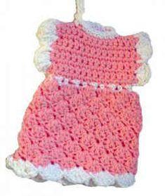 Free Crochet Pattern Shell Dress Potholder #96