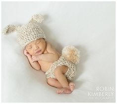 Sweet baby in  Bunny Outfit
