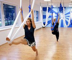 Aerial Yoga. I want to do this.