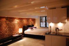 apart live, interior, boutiques, brick wall, boutiqu apart, bedroom design, amsterdam, bedrooms, apartments