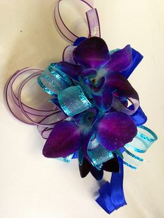 Prom Blue Orchid Wristlet - Shirley's Flowers & Gifts, Inc., in Rogers, Ark. by Flower Factor, via Flickr