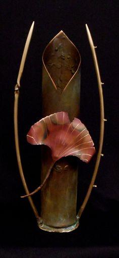 Copper and Bronze Gingko