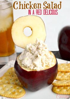 Chicken Salad in a Red Delicious-a fun lunch for children and adults! At littlemisscelebration