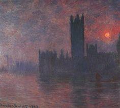 Houses of Parliament, Sunset, Claude Monet