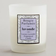One of my favorite discoveries at WorldMarket.com: French Lavender Candle