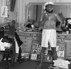 Pablo Picasso Poses as Popeye (1957)