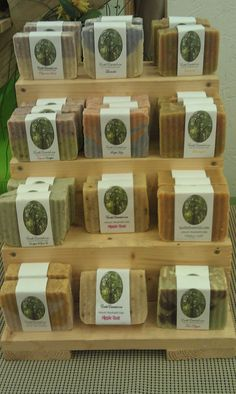 Assorted natural soap bars. Found @Earths Essential