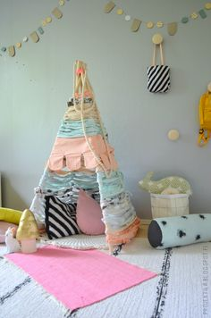 Tipi funny fabric wrapped teepee ;) sweet colours