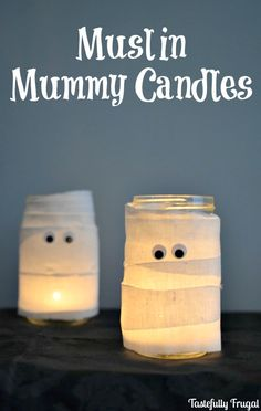 Muslin Mummy Candles