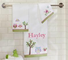 Hayley Bath Towels | Pottery Barn Kids...cute