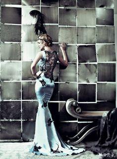 Carey Mulligan as Daisy Buchanan -Vogue.  Can't wait for Great Gatsby!
