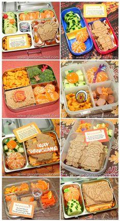 Thanksgiving Kids Bento School Lunch - Healthy Ideas From GlorysMischief.com